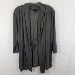 AB Studio Large Womens Open Front Cardigan Sweater